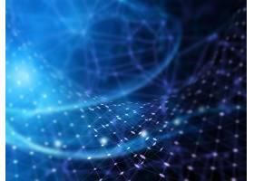具有连接线和点的3D未来主义背景_3140883