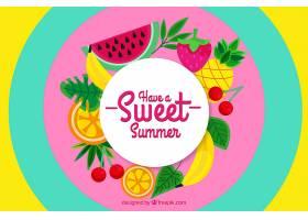 夏日的背景五颜六色的水果_2297748