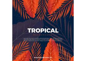 五颜六色的热带背景逼真的设计_2660910