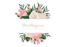 五颜六色的花卉构图和横幅为您的文本_3906670