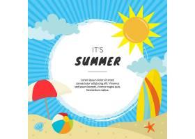 夏日背景带海滩_1101652