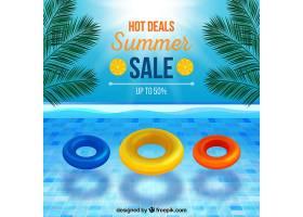 现实主义风格的夏季销售背景_2174996