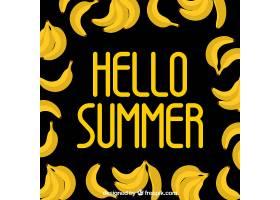 夏日背景扁平风格的香蕉_2190159
