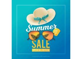 现实主义风格的夏季销售背景_2353663
