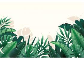 用于缩放的热带树叶背景_8928492