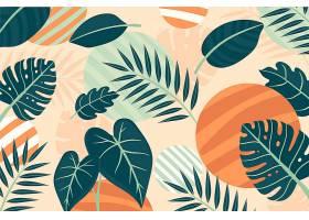 用于缩放的热带树叶背景_8966714