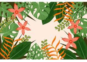 用于缩放的热带树叶背景_9158648