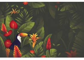 用于缩放的热带花卉壁纸_8934113