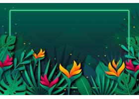 用于缩放的热带花卉背景_8928472