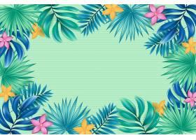 用于缩放的热带花卉背景_9263431