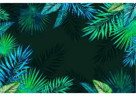 用于缩放的热带花卉背景_9263434