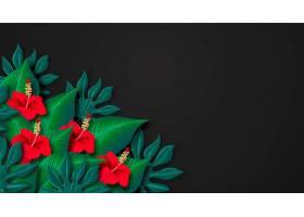 用于缩放的热带花卉背景_9263436