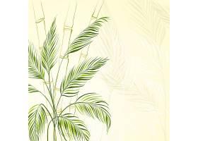 竹林上的棕榈树_1435055