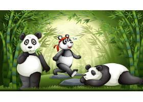 竹林里的熊猫_4317386