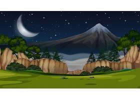 夜景中的山景_4883965