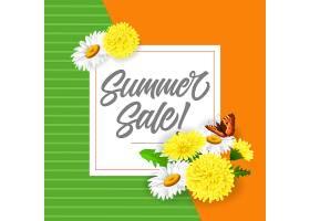 印有蒲公英和蝴蝶的夏季特卖会夏季优惠或_2438916