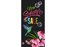 印有蜂鸟和兰花的夏季新促销活动_2541251