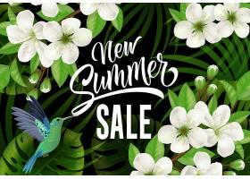 印有蜂鸟和鲜花的夏季新促销活动_2541250