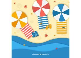 纸张纹理中从顶部背景开始的海滩_2566705