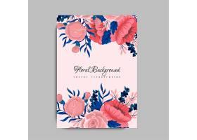 印有鲜花的贺卡_3707750
