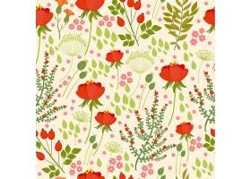 天衣无缝的图案与野花红色的罂粟_2883573