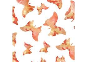 无缝水彩蝴蝶图案_1111863