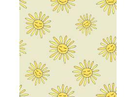 图案上有快乐的太阳阳光灿烂的夏日设计艺_11058835