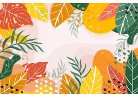 摘要夏季热带树叶背景_8127793