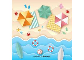 图纸样式的海滩俯视图_4528965