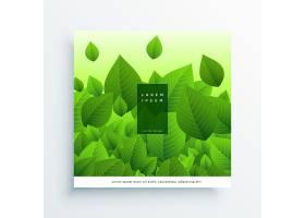 新鲜飞扬的绿叶矢量背景_2395334