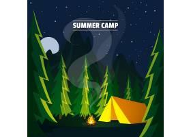 夏令营的背景和繁星点点的夜晚_2217330