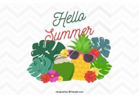 有趣的背景和夏日水果_2297761