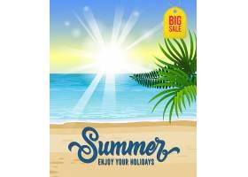 夏天享受你的假期有海洋热带海滩的大_2542149