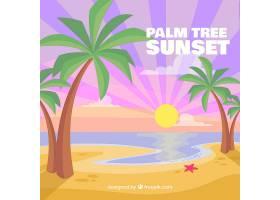 阳光明媚的海滩背景_1112869
