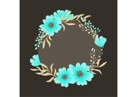 贺卡上有鲜花水彩画矢量环框_3211691