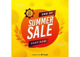黄色夏末销售背景_5282076