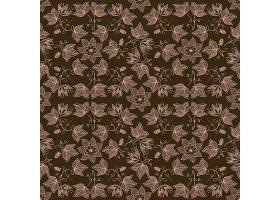 矢量花卉无缝图案背景背景纹理优雅古典_1283289