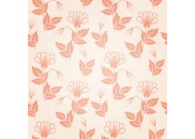 矢量花卉无缝图案背景背景纹理优雅古典_1283388