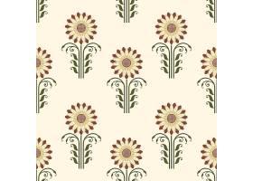 矢量花卉无缝图案背景背景纹理优雅古典_1283420
