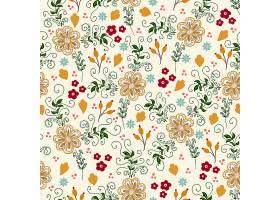 矢量花卉无缝图案背景背景纹理优雅古典_1283668