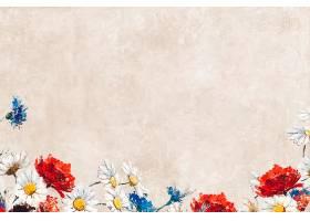 粉彩画布上的花朵_4557547