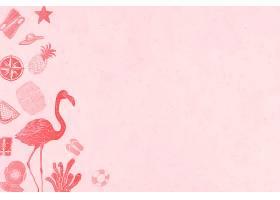 粉红色夏季背景_4394222