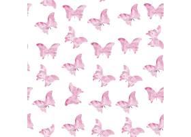 粉色无缝水彩蝴蝶图案_1107310