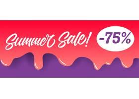 红色滴水油漆上的夏季打折字样夏季优惠或_2766962