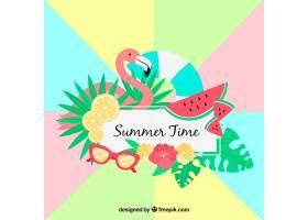 色彩斑斓的夏日背景_2297731