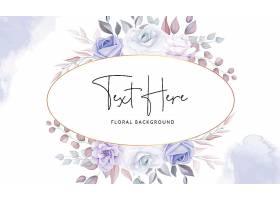 美丽的花卉背景柔和的紫色花朵_12905934