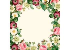 美丽盛开的野花花环_3529975