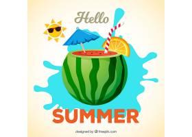 美味的夏日水果背景_2147267