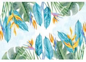 背景为五颜六色的热带树叶_8229525