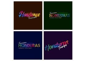 洪都拉斯旅游局排版徽标背景集_2184877